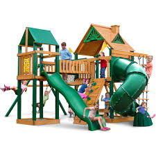 Playground Sets For Backyards by Big Backyard Somerset Lodge Wooden Play Set Walmart Com