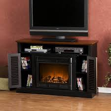 amazon com sei antebellum media console with electric fireplace