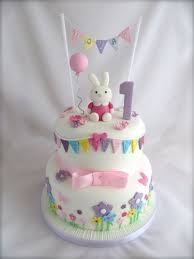 image result for 1 st birthday cakes with bunny cakes
