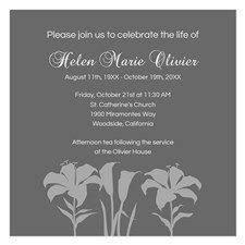 invitation wording celebration of life invitation memorial