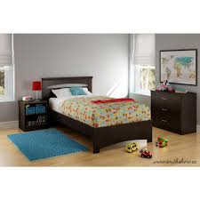 Libra Home Decor South Shore Libra Chocolate Twin Bed Frame 3859189 The Home Depot