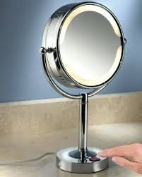 lighted travel makeup mirror 15x led magnifying mirror table top lighted make up mirror magnifying