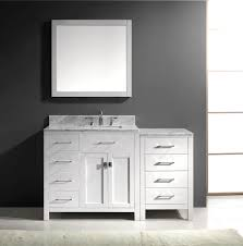 Virtu Bathroom Accessories by Virtu Usa Caroline Parkway 57 Single Bathroom Vanity Set In White