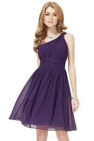 robe classe pour mariage robe classe asymétrique violettte pour cocktail mariage