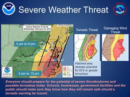 Severe Weather Map Severe Weather Rainfall Threat For Southeastern Virginia