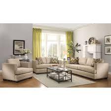 coaster furniture 505741 rosario transitional sofa in ecru