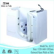 bathtub 52 inches left drain soaking tub in white 011