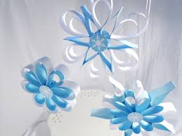 Winter Party Decorations - frozen party hanging snowflakes winter party decorations wall