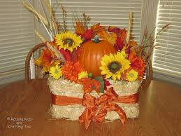 fall flower arrangements with hay raising kids and crafting too