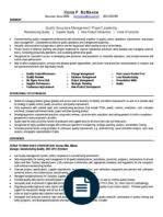 Qa Manager Resume Sample by Quality Assurance Manager Resume Sample Quality Assurance