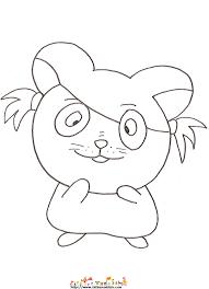 Coloriage dun hamster dessin 16  Tête à modeler