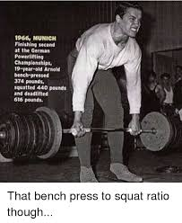 Arnold Gym Memes - 1966 munich finishing second at the german powerlifting