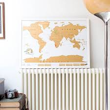 Scratch Off Map Usa by Scratch Map Personalised World Poster