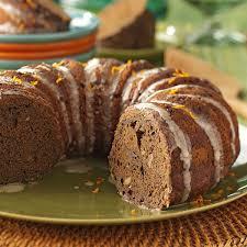 zucchini chocolate cake with orange glaze recipe taste of home