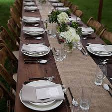 rent party supplies necr walnut farm table for rent custom event rental party