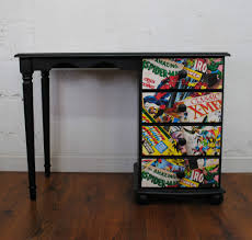 upcycled retro desk marvel comic super hero spider man one of a