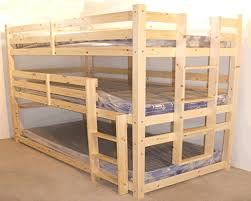Bunk Bed With Mattress 3 Tier Heavy Duty Wooden Bunk Beds With Mattresses Included