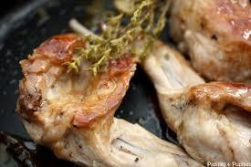 cuisine du lapin gigolettes de lapin rôties au thym recette lapin roti le thym