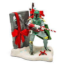 wars boba fett with han carbonite statue thinkgeek