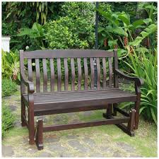 Patio Table Wood Benches Outdoor Bench Glider Iron And Wood Garden Bench White