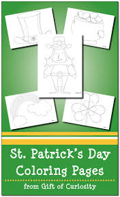 st patrick u0027s day coloring pages gift of curiosity