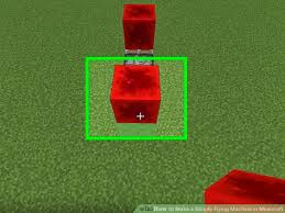 how to make a simple flying machine in minecraft 5 steps