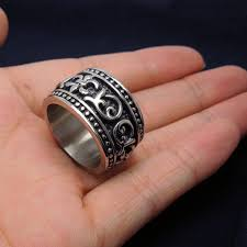 cool rings for men best mens biker rings for men geometric siver ring fashion