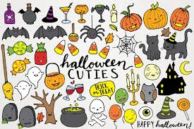 Halloween Stickers Printable by Cute Halloween Clipart Hand Drawn Halloween Clip Art