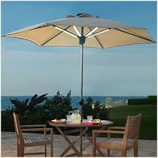 patio umbrellas with led lights the best option solar powered