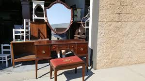 Antique Vanity With Mirror And Bench - vintage vanity set mirror bench included farmhouse shabby chic
