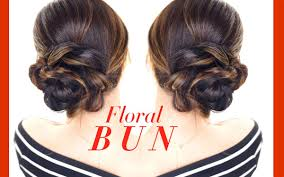 floral side bun hairstyle easy holiday updo hairstyles youtube