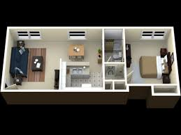 Single Bedroom Apartment Floor Plans by One Bedroom Apartment Plans And Designs This Is A Nice Simple