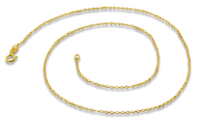 gold plated chain necklace images Gold plated sterling silver 16 quot cable chain necklace 1 1mm gif