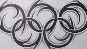 tatoo design tribal how to draw the olympic rings tribal tattoo design style youtube