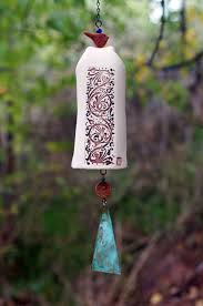 Ceramic Garden Art Ceramic Wind Chimes Pottery Garden Bell Copper Bell Chime And