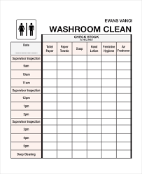 Bathroom Cleaning Schedule Form Cleaning Roster Template 6 Free Word Pdf Documents Download