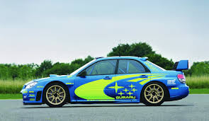 subaru sti rally car subaru impreza wrx car wrc rally a side view blue original wheel