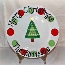 christmas plates christmas tree plate