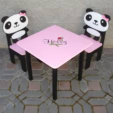 little girls table and chair set panda little girls table and panda chair by greatcustomfurniture