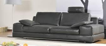 canapé cuir contemporain design pourquoi la tendance est aux canapés cuir avec têtières canapé
