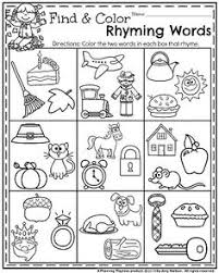 kindergarten worksheets kindergarten worksheets rhyming