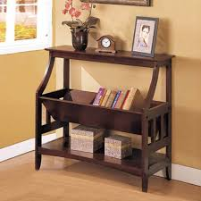 Sofa Table Amazon Com Contemporary Wood Magazine Table Book Storage Console