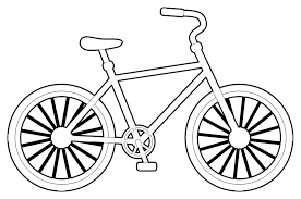 10 kids coloring pages bicycle print color craft