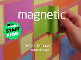 stick paper magnetic paper that sticks to walls by tesla amazing kickstarter