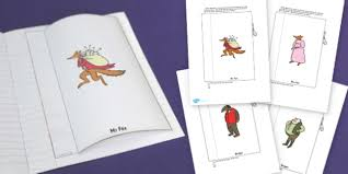 character description interactive writing template to support