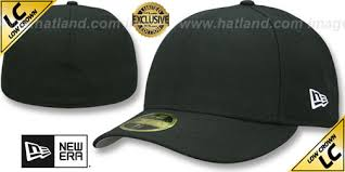 nw era new era low crown 59fifty blank black fitted hat at hatland