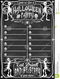 vintage blackboard for halloween party royalty free stock