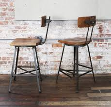 Furniture Bar Stool Chairs Backless by Furniture Metal Bar Stools With Wood Seat Backs Counter Height