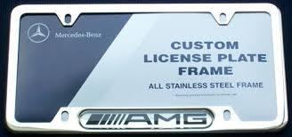 mercedes license plate holder amazon com genuine mercedes amg chrome license plate frame