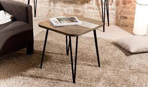bout de canapé m bout de canapé design scandinave en bois massif et métal